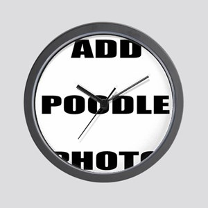 Add Poodle Photo Wall Clock