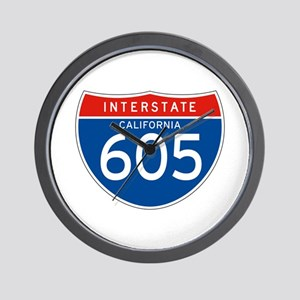Interstate 605 - CA Wall Clock