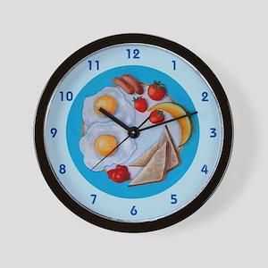 Breakfast plate Wall Clock