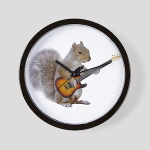 Squirrel Guitar Wall Clock