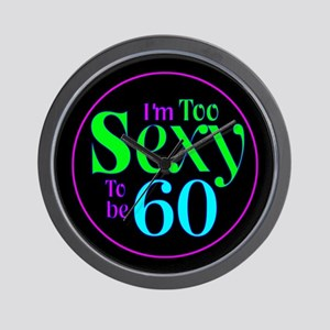 60th birthday sexy Wall Clock