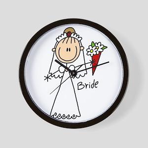 Stick Figure Bride Wall Clock