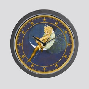 THE LADY IN THE MOON Wall Clock