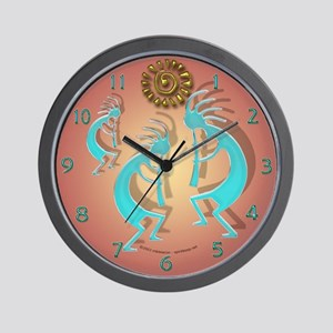 Kokopelli w/ Sun Wall Clock