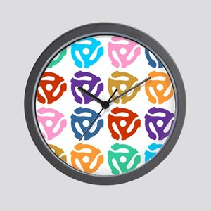 45 RPM Record Adapter Pop Art Wall Clock