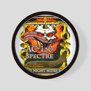 USAF AC-130 Spectre Skull Gol Wall Clock