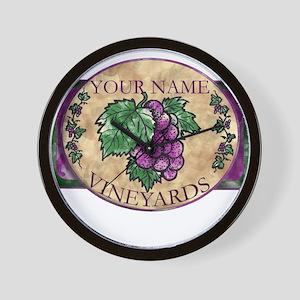 Your Vineyard Wall Clock