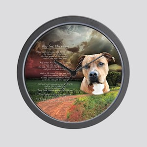 """""""Why God Made Dogs"""" AmStaff Wall Clock"""