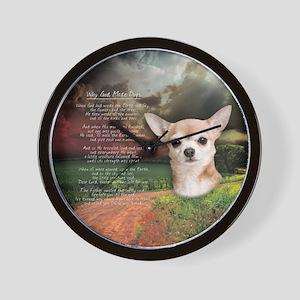 """Why God Made Dogs"" Chihuahua Wall Clock"