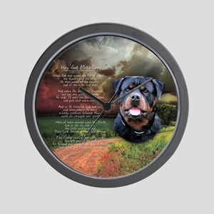 """""""Why God Made Dogs"""" Rottweiler Wall Clock"""