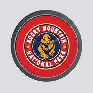 Rocky Mountain Red Circle Wall Clock