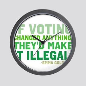 If Voting Changed Anything... Wall Clock