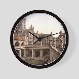 Roman Baths and Abbey Wall Clock