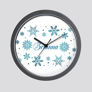 Custom name Snowflakes Wall Clock