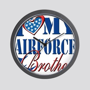 I Love My Airforce Brother Wall Clock