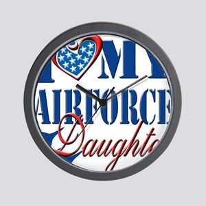 I Love My Airforce Daughter Wall Clock