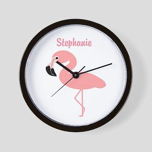Personalized Flamingo Wall Clock