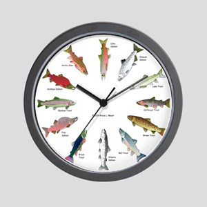North American Salmon and Trouts Clocks Wall Clock