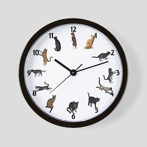 Playful Cats Wall Clock