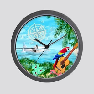 Tropical Travels Wall Clock
