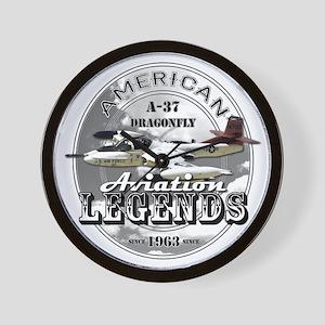 A-37 Dragonfly Aircraft Wall Clock