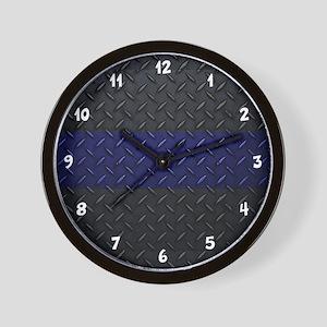 Police Diamond Plate Wall Clock