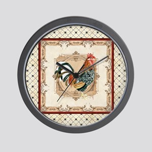 Vintage Rooster Country French Watercolor Cream Wa