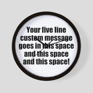 Super Mega Five Line Custom Message Wall Clock