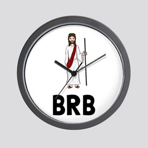 Jesus BRB Wall Clock