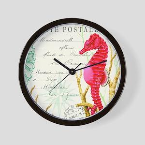 Modern vintage seahorse Wall Clock