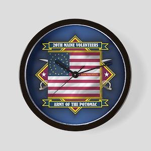 20th Maine V.I. Wall Clock
