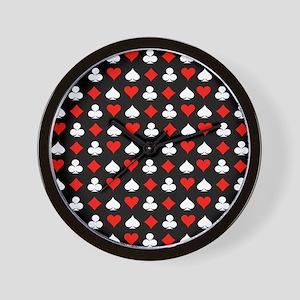 Poker Symbols Wall Clock