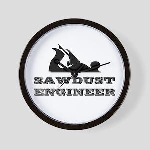 Sawdust Engineer Wall Clock