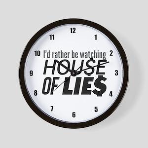House of Lies Wall Clock