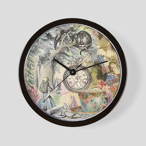 Cheshire Cat Alice in Wonderland Wall Clock