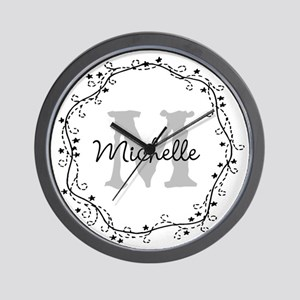Personalized vintage monogram Wall Clock