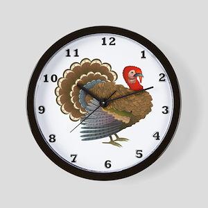 Turkey Call Wall Clock