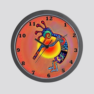 Lizard Kokopelli Sun Wall Clock