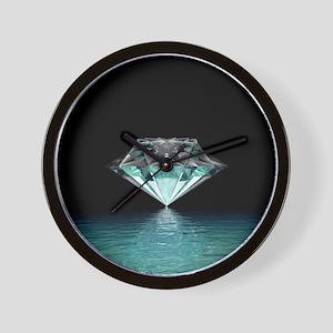 Aqua Diamond Wall Clock