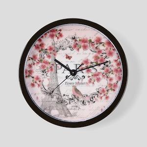Paris spring Wall Clock