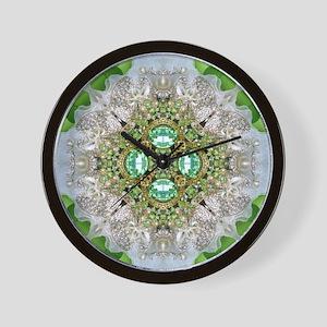 green diamond bling Wall Clock