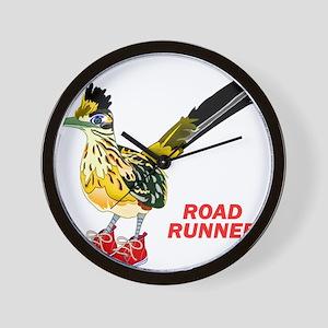 Road Runner in Sneakers Wall Clock