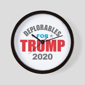 Deplorables for Trump 2020 Wall Clock