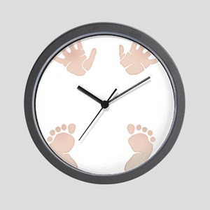 Baby_Hands_and_Feet_Maternity_Exc1 Wall Clock