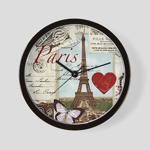Paris Memories Wall Clock