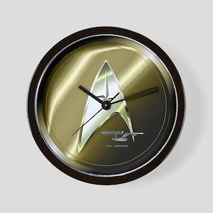 Bronze Star Trek Wall Clock