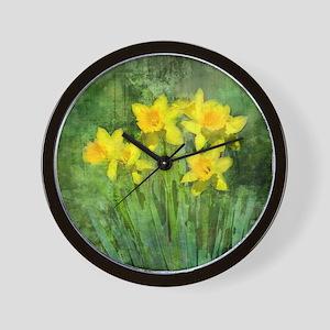 Daffodil Art Wall Clock