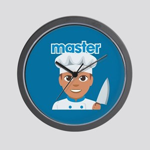 Emoji Master Chef Wall Clock