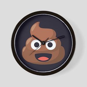 Poop Emoji Wall Clock