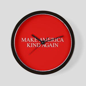Make America Kind Again Wall Clock